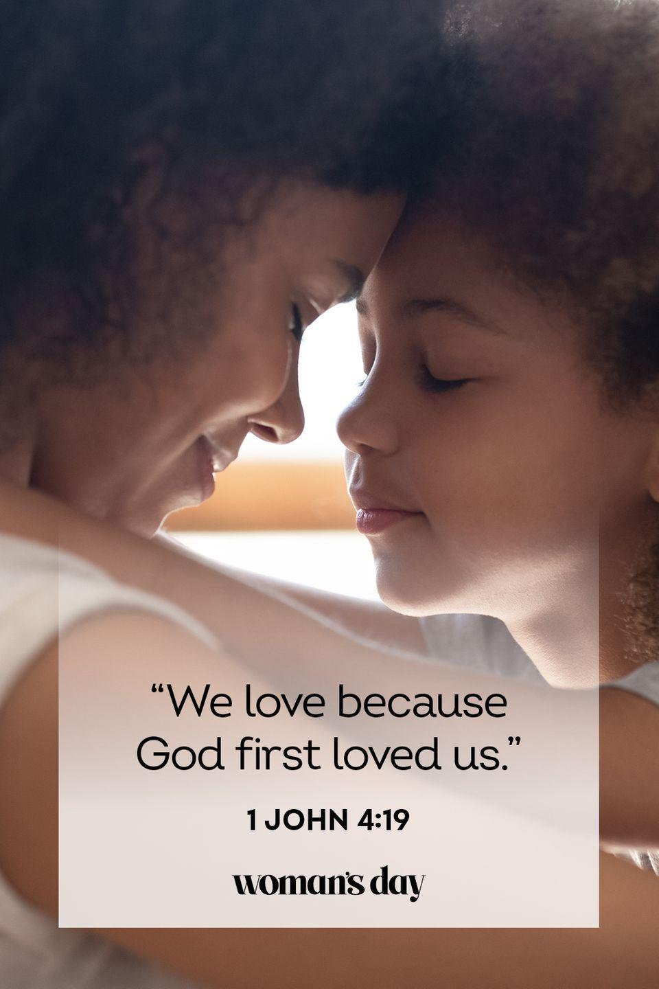 """<p>""""We love because God first loved us."""" — 1 John 4:19</p><p><strong>The Good News: </strong>We only have love for others because God loved us first. We must never forget this.</p>"""