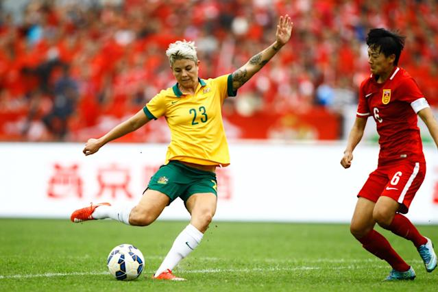 <p>Heyman made her debut for the Australian national team in 2010 and the Rio Games will be her first Olympics. She plays for the Western New York Flash in the National Women's Soccer League. The 28-year-old said she came out to her parents a decade ago. (Getty) </p>