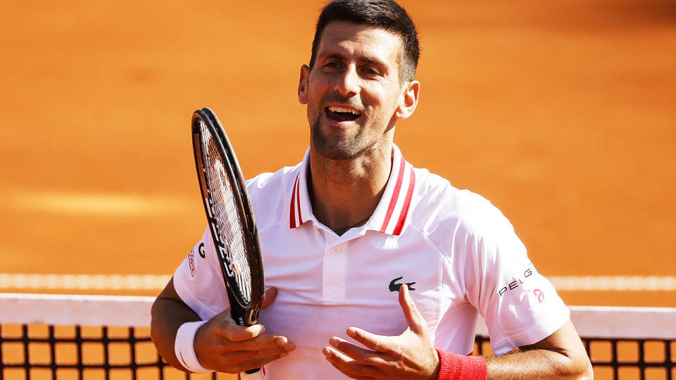 Novak Djokovic, pictured here in action at the Serbia Open.
