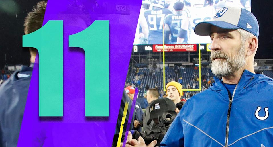 <p>Frank Reich probably won't get many coach of the year votes because the Matt Nagy train seemed to leave the station long ago, but what Reich pulled off, getting the Colts to the playoffs after a 1-5 start, was remarkable. (Frank Reich) </p>