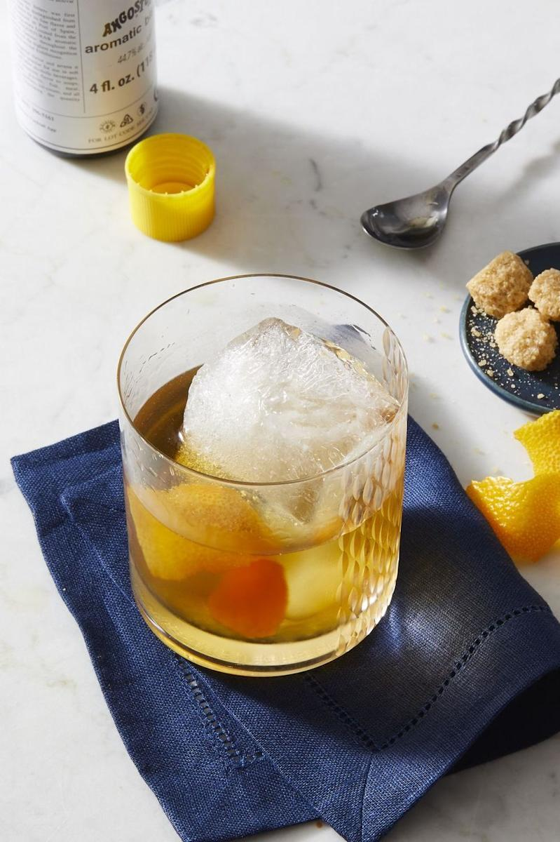 """<p>It's a classic for a reason. This old school drink mixes citrus with cherries, bourbon and bitters for a smooth flavor.</p><p><em><a href=""""https://www.goodhousekeeping.com/food-recipes/a28579077/classic-old-fashioned-recipe/"""" rel=""""nofollow noopener"""" target=""""_blank"""" data-ylk=""""slk:Get the recipe for Classic Old-Fashioned »"""" class=""""link rapid-noclick-resp"""">Get the recipe for Classic Old-Fashioned »</a></em></p>"""