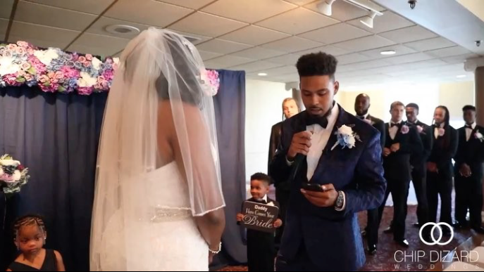 Just Beautiful! Groom Is Overcome With Emotion While Exchanging Vows With His Bride At The Altar
