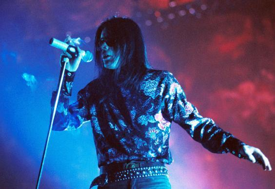 The Sisters of Mercy at the Riviera Theatre in Chicago in 1991 (Rex)