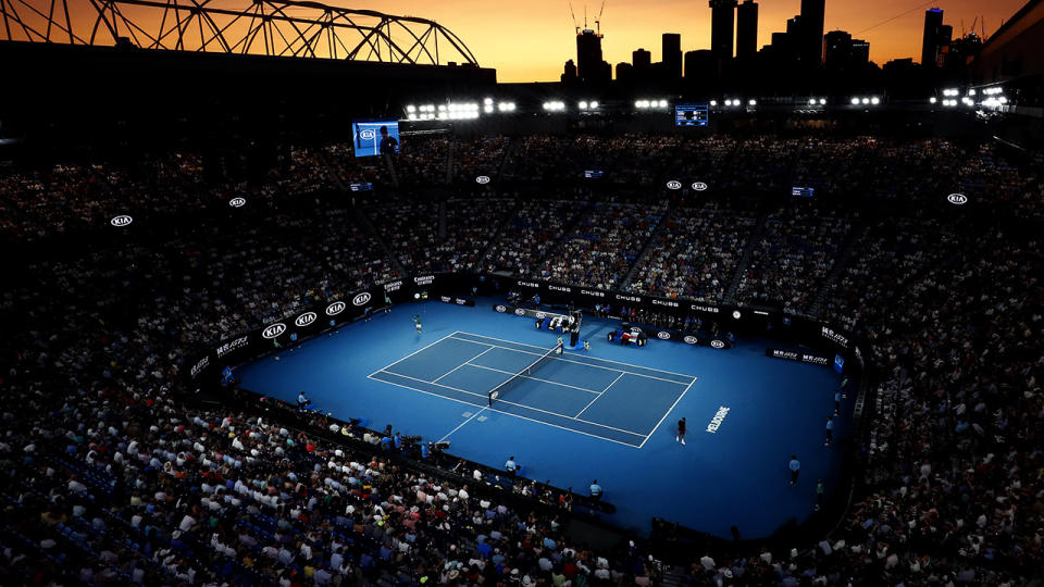 Rod Laver Arena, pictured here during the men's semi-finals at the 2020 Australian Open.