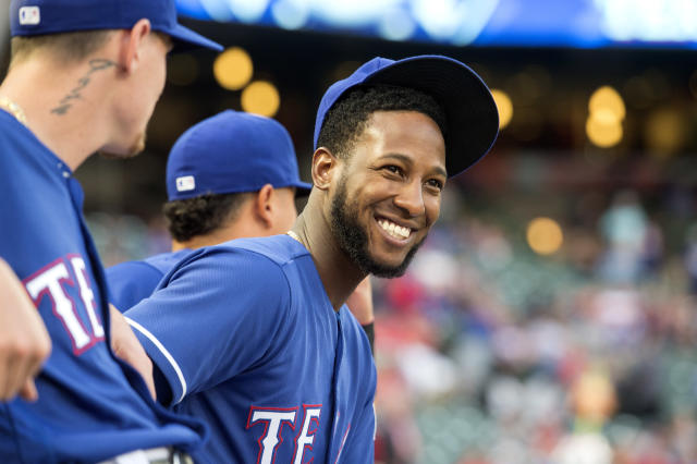 "Will <a class=""link rapid-noclick-resp"" href=""/mlb/players/9112/"" data-ylk=""slk:Jurickson Profar"">Jurickson Profar</a> finally have a season to smile about? (AP/Jeffrey McWhorter)"