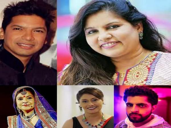 Pictures of singer Shaan and other performers at the event