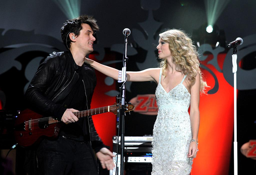 NEW YORK - DECEMBER 11:  John Mayer and Taylor Swift perform onstage during Z100's Jingle Ball 2009 presented by H&M at Madison Square Garden on December 11, 2009 in New York City.  (Photo by Theo Wargo/WireImage for Clear Channel Radio New York) *** Local Caption *** John Mayer;Taylor Swift