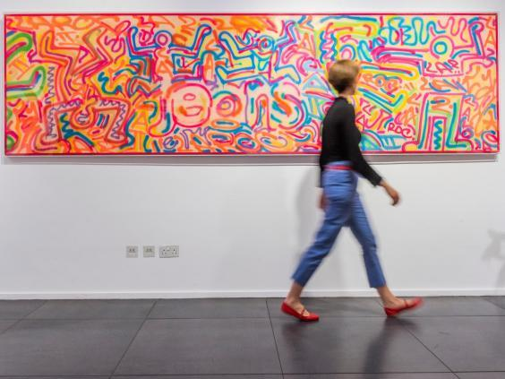 In living colour: Haring's work celebrated black music and culture (Rex)
