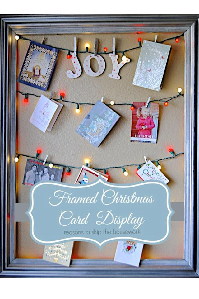 14 Beautiful Diy Ways To Display Christmas Cards