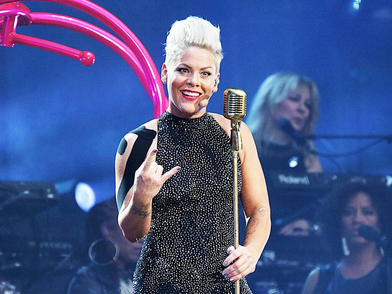 Pink gives herself uneven buzz cut during self-isolation