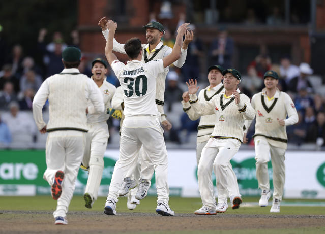 Cummins made the breakthrough in the opening over by removing Rory Burns (Photo by Ryan Pierse/Getty Images)