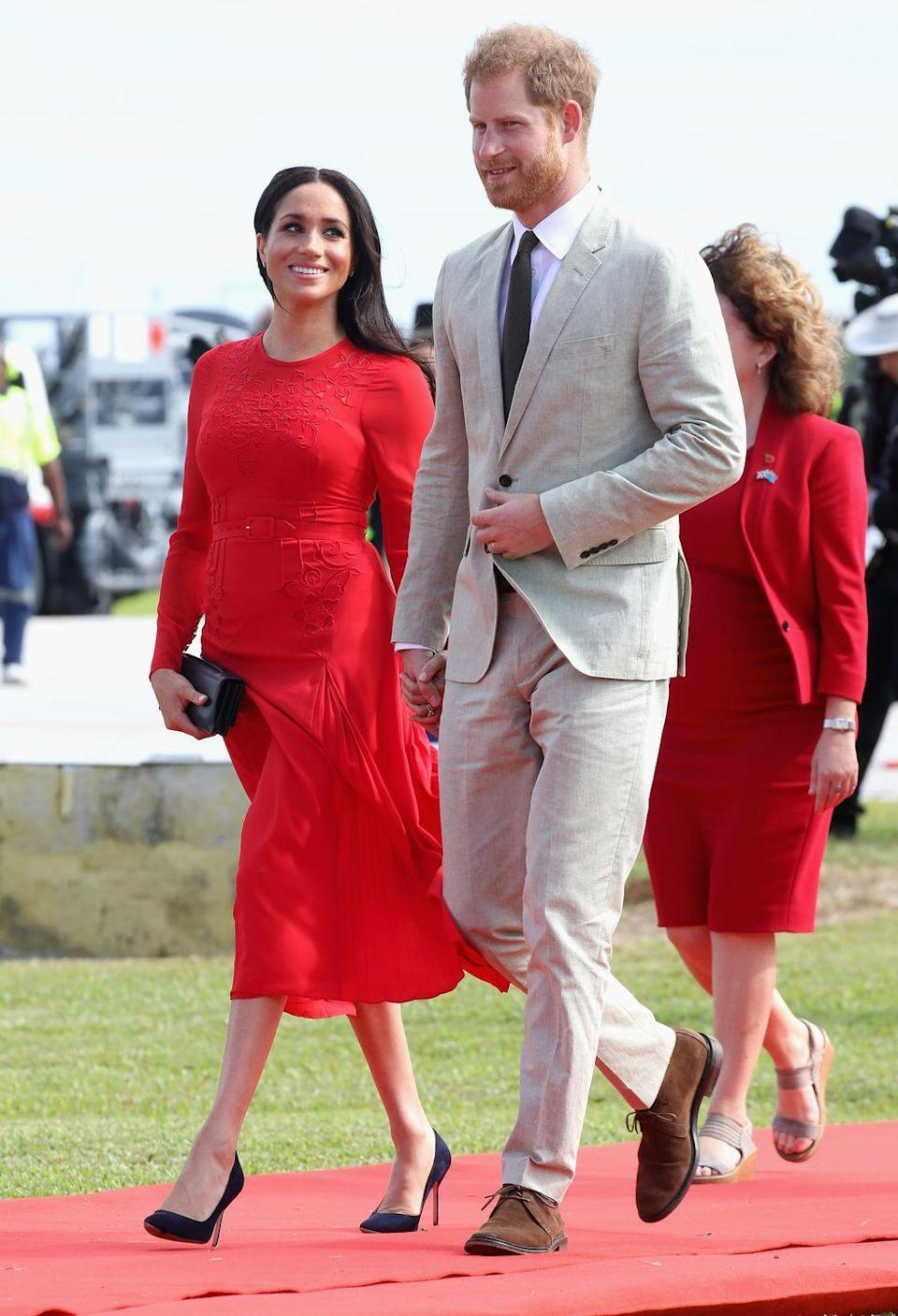 <p>The royal couple only spent one night in Tonga.</p>
