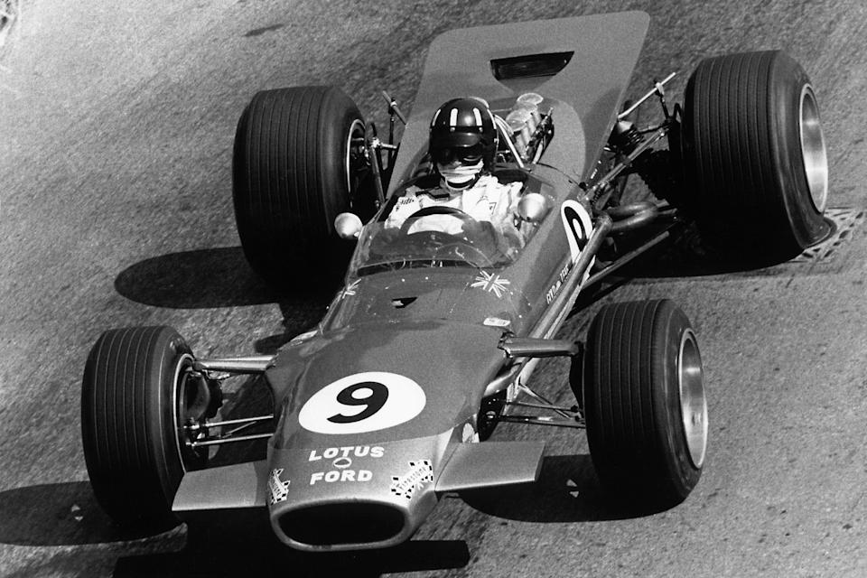 Graham Hill en route to winning his fourth Monaco GP in 1968