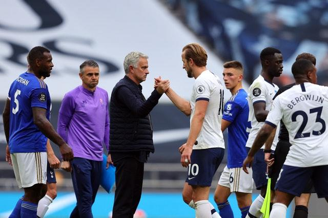 Jose Mourinho told Harry Kane he could help him become a global superstar in a scene shown in the All or Nothing documentary