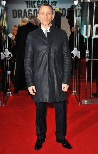 Daniel Craig at the London premiere of The Girl With the Dragon Tattoo on December 12, 2011. Photo by Jon Furniss, WireImage