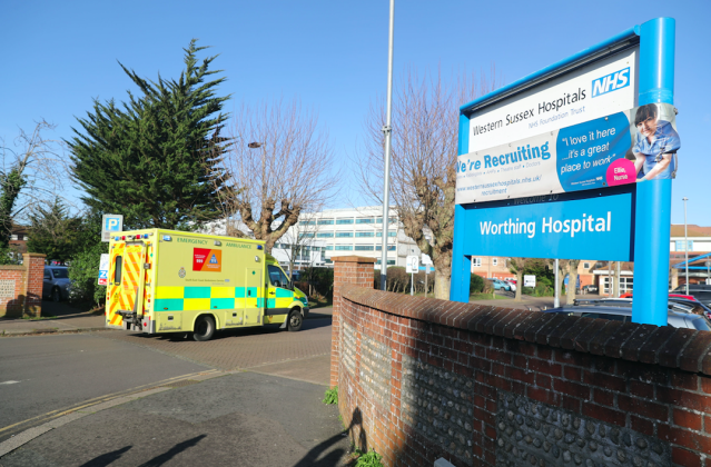 A healthcare worker at Worthing Hospital is among the eight confirmed cases of coronavirus in the UK. (PA)