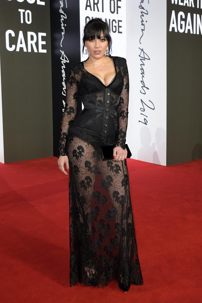 Daisy Lowe rocks a burlesque look at The Fashion Awards at Royal Albert Hall. Photo: Getty Images