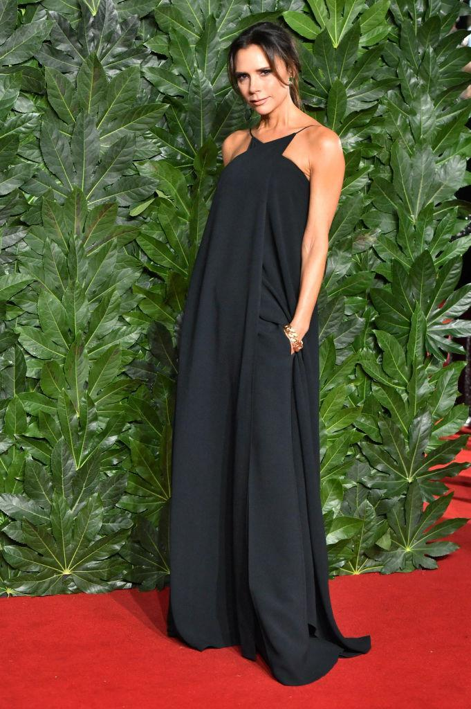 <p>Victoria Beckham took to the red carpet this year in a slouchy jumpsuit by her eponymous label. <em>[Photo: Getty]</em> </p>