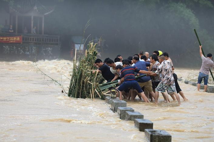 bamboo in china flood