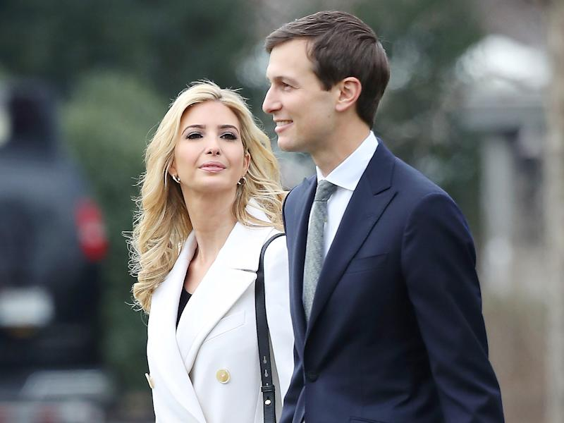 The President's daughter and son-in-law are among a number of multimillionaires in the Trump administration: Getty