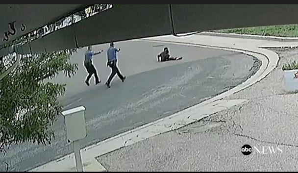 PHOTO: Security footage shows the moment De'Von Bailey was shot by police officers. (ABC News)