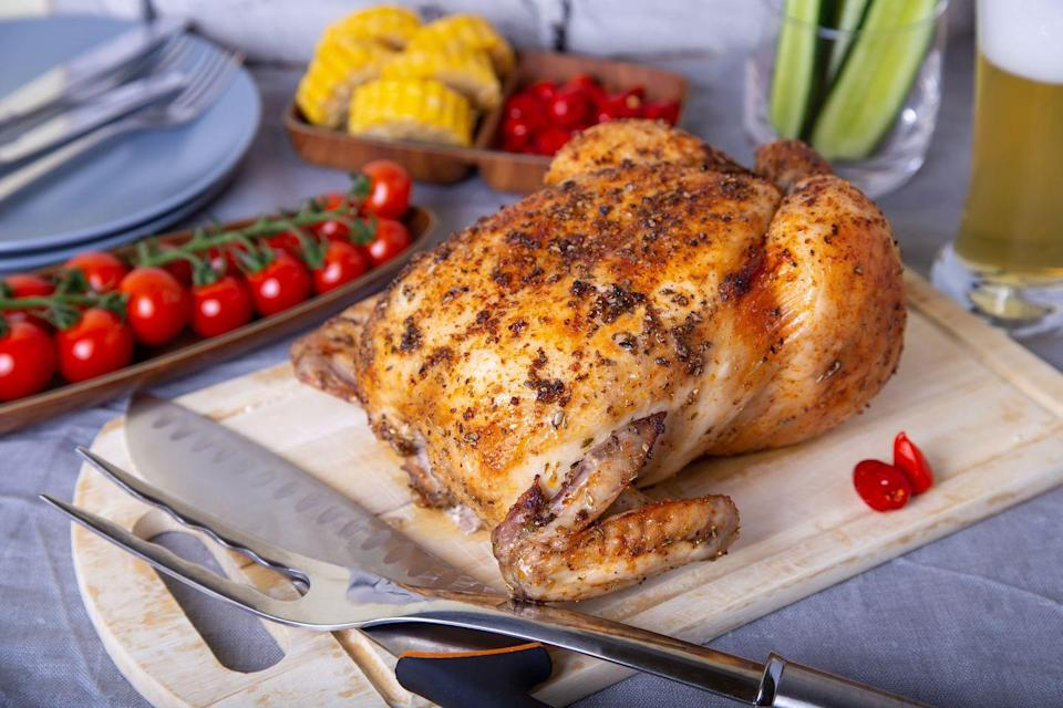"<p>Knowing how to make a rotisserie chicken is a great skill to have, but it's not exactly a quick, everyday meal. ""Cooking a whole chicken can be timely in process and execution - in addition to the unique set-up,"" chef Craig Rispoli, executive chef at <a href=""http://www.freshandco.com/"" rel=""nofollow noopener"" target=""_blank"" data-ylk=""slk:fresh&co"" class=""link rapid-noclick-resp"">fresh&co</a>, tells Woman's Day. ""Purchasing a high-quality, pre-cooked chicken can effortlessly give you a great protein component to build a meal around, in less time."" Fortunately, these are readily available in many grocery stores. </p>"