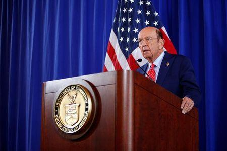 Commerce Secretary Wilbur Ross holds a news conference at the Department of Commerce in Washington