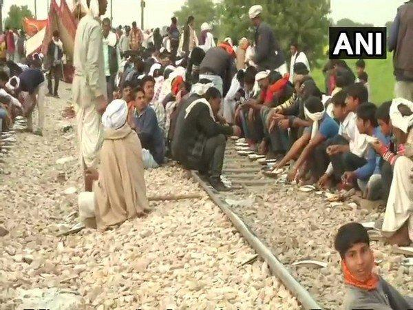 Gujjar community members protest at railway tracks (File Image)