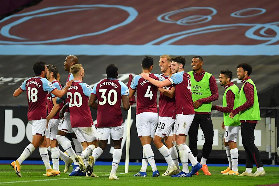 <p>West Ham are currently on course for Champions League qualification</p> (Getty Images)