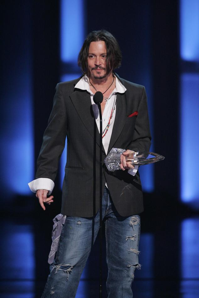 "Johnny Depp, winner of ""Favorite Movie Actor"" at ""People's Choice Awards 2010."""
