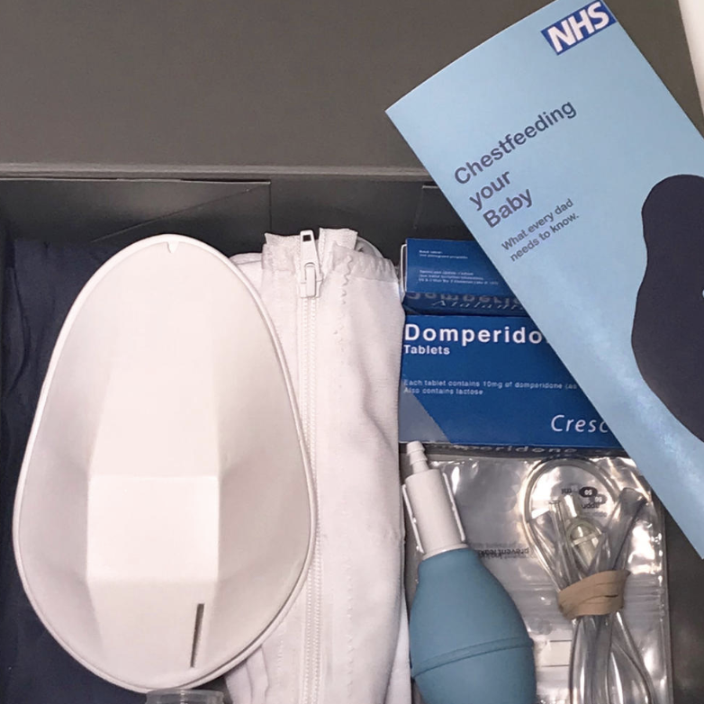 A prototype of the kit mocked up as how it might look as part of an NHS package. [Photo: Marie-Claire Springham]
