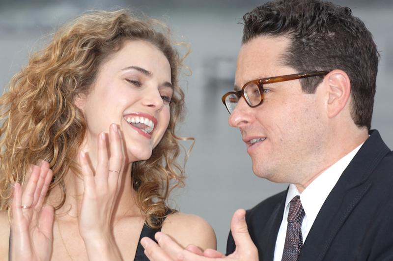 "Keri Russell and J.J. Abrams (director) during ""Mission: Impossible III"" Tokyo Premiere - Red Carpet at Odaiba Kaihin Koen in Tokyo, Japan. (Photo by Jun Sato/WireImage)"