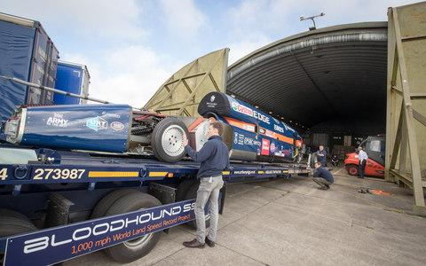 Bloodhound land speed record car - Credit: Matt Cardy /Getty