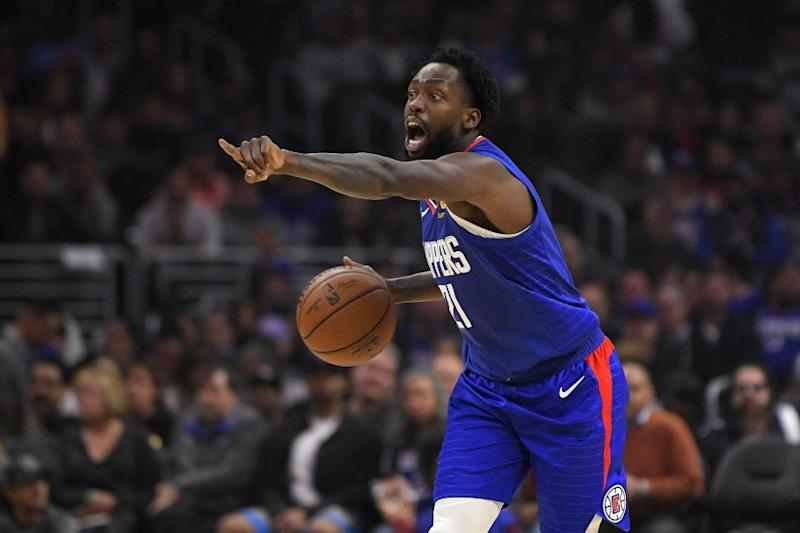 Los Angeles Clippers guard Patrick Beverley gestures during the first half of an NBA basketball game against the Philadelphia 76ers Sunday, March 1, 2020, in Los Angeles. (AP Photo/Mark J. Terrill)