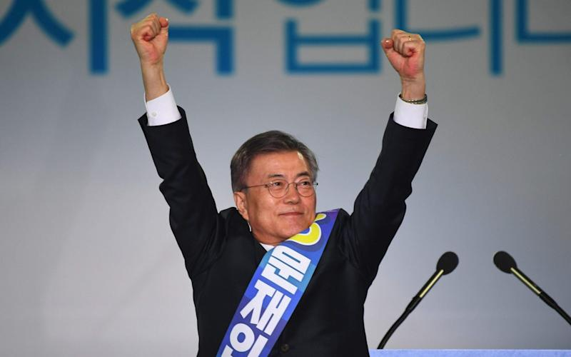 Moon Jae-In, - Credit: Jung Yeon-Je/AFP