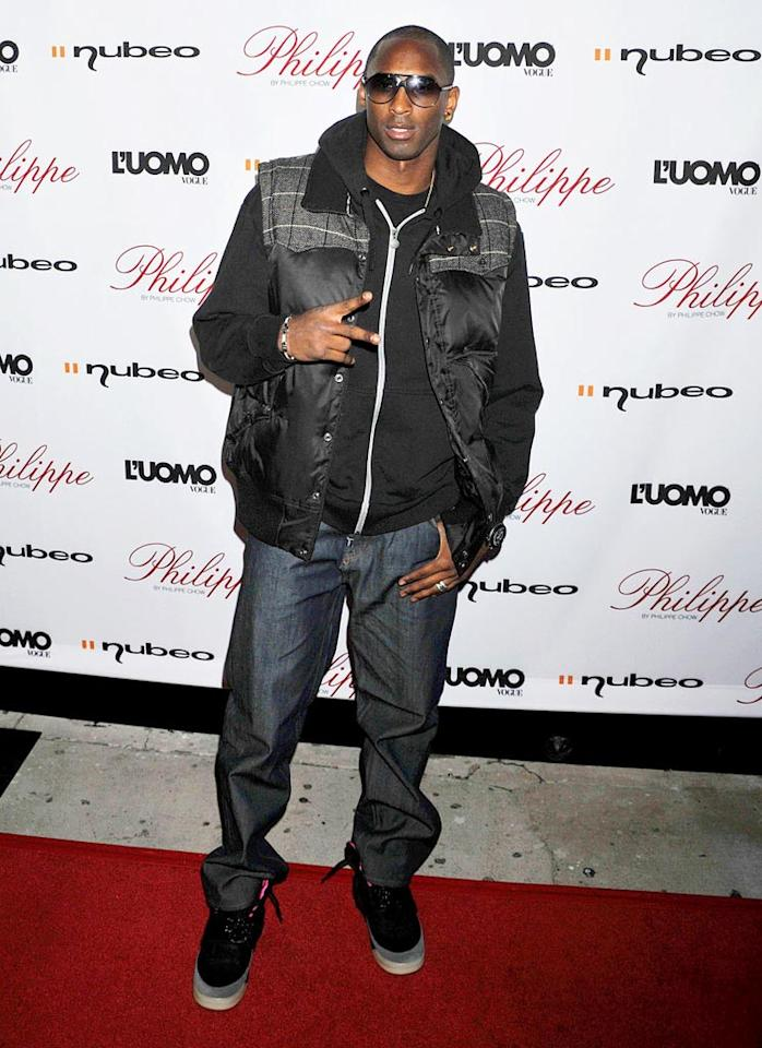 "Lamar's teammate, Kobe Bryant, flew solo at the soiree in a pair of baggy jeans, a puffy vest, and clunky kicks. Jeffrey Mayer/<a href=""http://www.wireimage.com"" target=""new"">WireImage.com</a> - October 12, 2009"