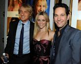 <p>Reese is all smiles with co-stasr Owen Wilson and Paul Rudd at the Los Angeles premiere.<br>(Photo: Getty Images) </p>