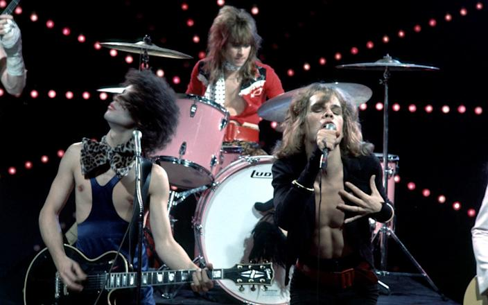 Sylvain, left, with the New York Dolls in 1973 - Richard Creamer/Michael Ochs Archives/Getty Images