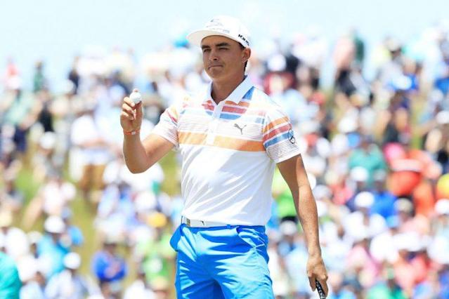 "<a class=""link rapid-noclick-resp"" href=""/pga/players/9633/"" data-ylk=""slk:Rickie Fowler"">Rickie Fowler</a> lit up Erin Hills on Thursday. (Getty Images)"