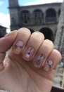 "<p><a href=""https://www.instagram.com/nailsartcarlou/"" rel=""nofollow noopener"" target=""_blank"" data-ylk=""slk:Nail artist Carla"" class=""link rapid-noclick-resp"">Nail artist Carla</a> created this glittery hanging ornaments look that can be customized with the polish colors of your choice.</p><p><a class=""link rapid-noclick-resp"" href=""https://go.redirectingat.com?id=74968X1596630&url=https%3A%2F%2Fwww.etsy.com%2Flisting%2F569927025%2Ffestive-globes-stencils-for-nails&sref=https%3A%2F%2Fwww.oprahmag.com%2Fbeauty%2Fg34113691%2Fchristmas-nail-ideas%2F"" rel=""nofollow noopener"" target=""_blank"" data-ylk=""slk:SHOP ORNAMENT STENCIL"">SHOP ORNAMENT STENCIL</a></p>"