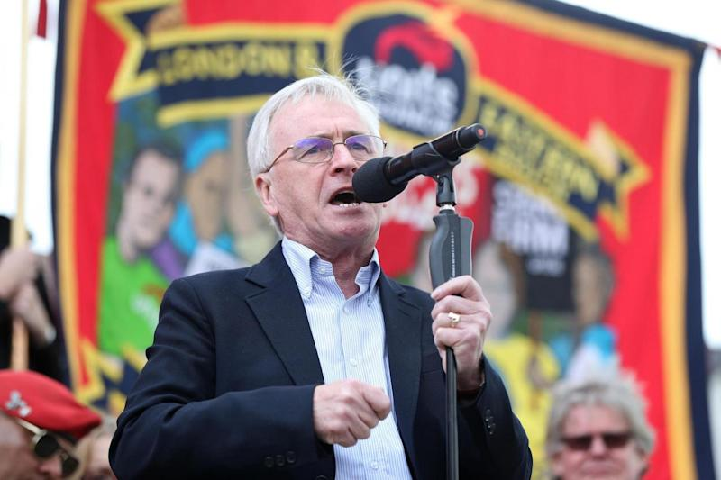 John McDonnell pledged to scrap the Trade Union Act (PA)