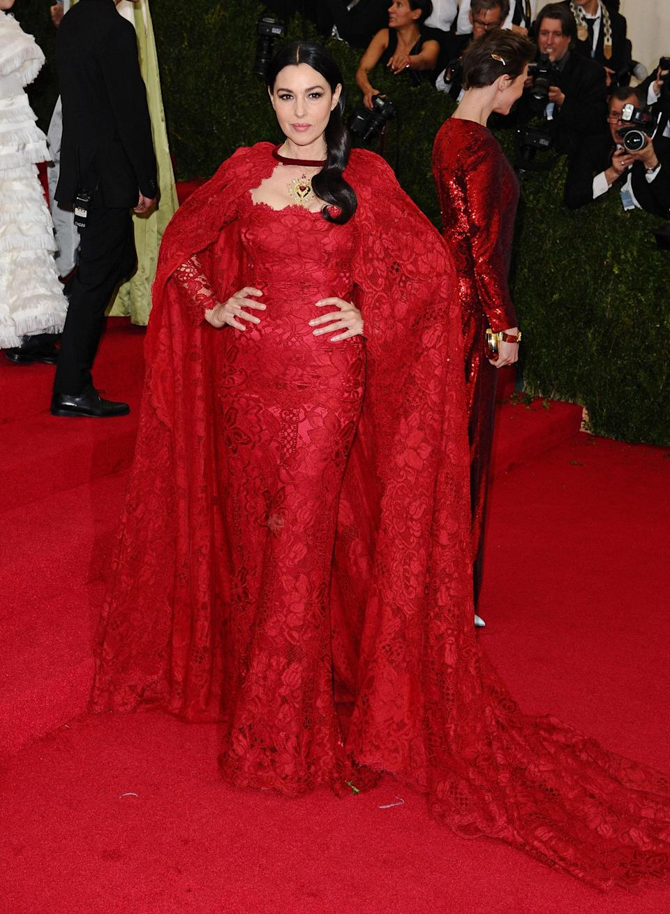 """<h1 class=""""title"""">Monica Belluci in Dolce and Gabbana, 2014</h1><cite class=""""credit"""">Photo: Getty Images</cite>"""