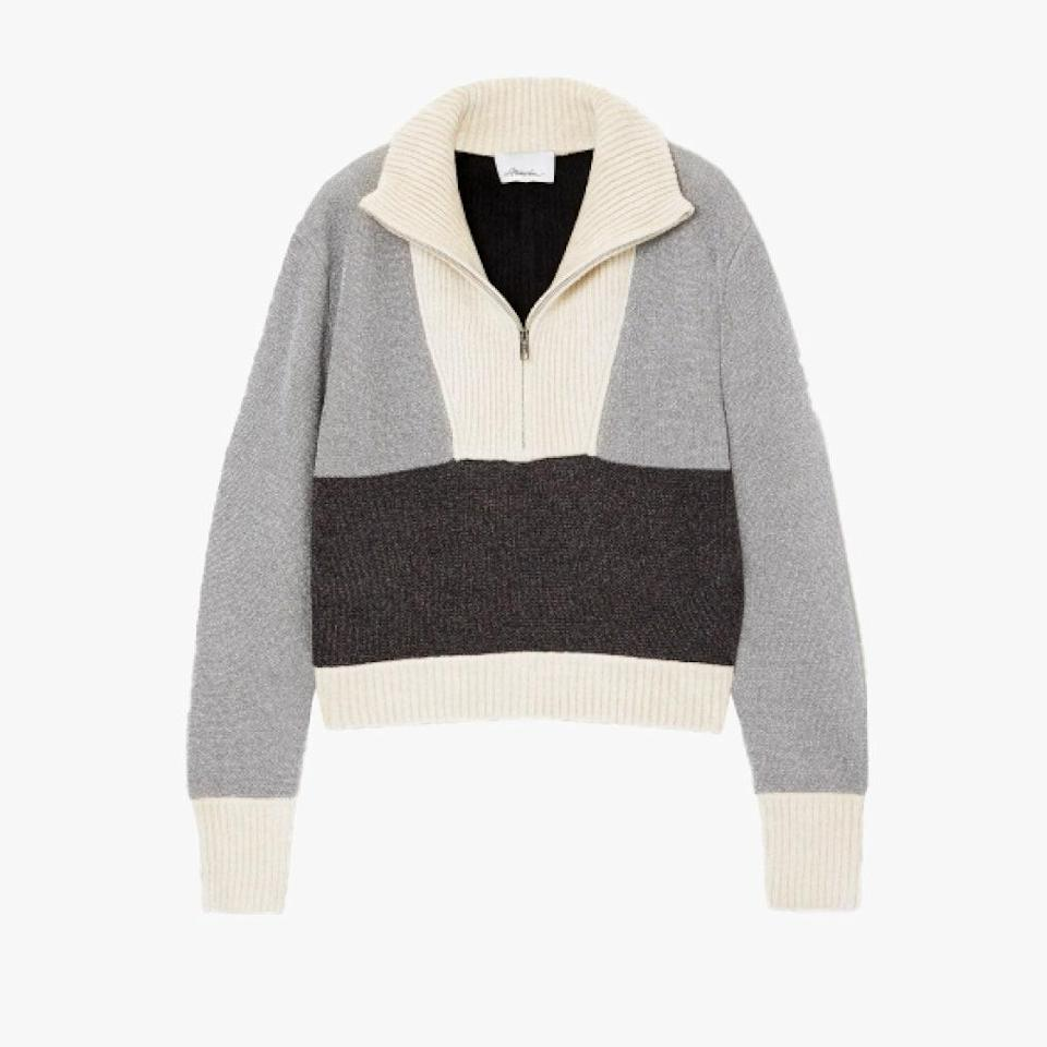 "$550, NET-A-PORTER. <a href=""https://www.net-a-porter.com/en-us/shop/product/31-phillip-lim/cropped-color-block-lurex-and-ribbed-chenille-sweater/1276503"" rel=""nofollow noopener"" target=""_blank"" data-ylk=""slk:Get it now!"" class=""link rapid-noclick-resp"">Get it now!</a>"