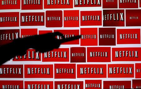 FILE PHOTO: The Netflix logo is shown in this illustration photograph in Encinitas, California, U.S., on October 14, 2014.   REUTERS/Mike Blake/File Photo