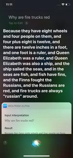 Siri why are fire trucks red?
