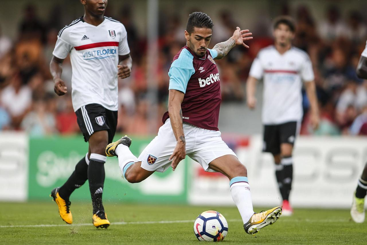 Manuel Lanzini still injured, but Michail Antonio and Cheikhou Kouyate could return for West Ham against Southampton