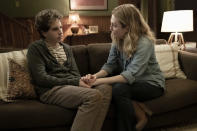 """This mage released by Universal Pictures shows Ben Platt, left, and Julianne Moore in a scene from """"Dear Evan Hansen."""" (Erika Doss/Universal Pictures via AP)"""