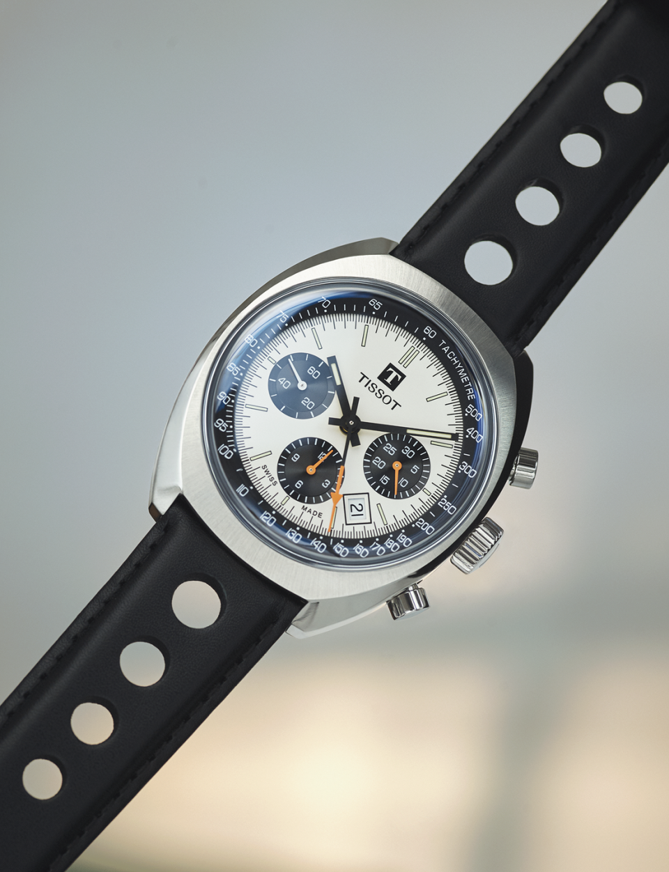 """<p>Heritage 1973 Chronograph</p><p><a class=""""link rapid-noclick-resp"""" href=""""https://go.redirectingat.com?id=127X1599956&url=https%3A%2F%2Fwww.ernestjones.co.uk%2Fwebstore%2Fl%2Fsearch%2Fbrand%257Ctissot%2Fstock%2Bposition%257Cin%2Bstock%2F&sref=https%3A%2F%2Fwww.esquire.com%2Fuk%2Fwatches%2Fg25973970%2Fbest-mens-watches%2F"""" rel=""""nofollow noopener"""" target=""""_blank"""" data-ylk=""""slk:SHOP"""">SHOP</a><br>The Swiss brand first engaged with motor racing during the Fifties, finding its greatest success in the Seventies sponsoring entrants at the Le Mans 24-hour endurance races and claiming a podium first place with French car builder Alpine at the Monte Carlo Rally World Championship in 1973. This year's Heritage release revisits Tissot's original mechanical racing watch, the Navigator, fairly faithfully while adding new tweaks. Inside the polished steel 43mm case, the three-dial panda layout is highlighted with green Super-LumiNova indices and sporty little neon-orange counters, the date window is repositioned between 4 and 5 o'clock, and it's all mounted on a period-perfect black perforated leather racing strap. Limited to an appropriate 1,973 pieces, the race is on to catch up with one. </p><p>£1,615; <a href=""""https://www.tissotwatches.com/"""" rel=""""nofollow noopener"""" target=""""_blank"""" data-ylk=""""slk:tissotwatches.com"""" class=""""link rapid-noclick-resp"""">tissotwatches.com</a></p>"""