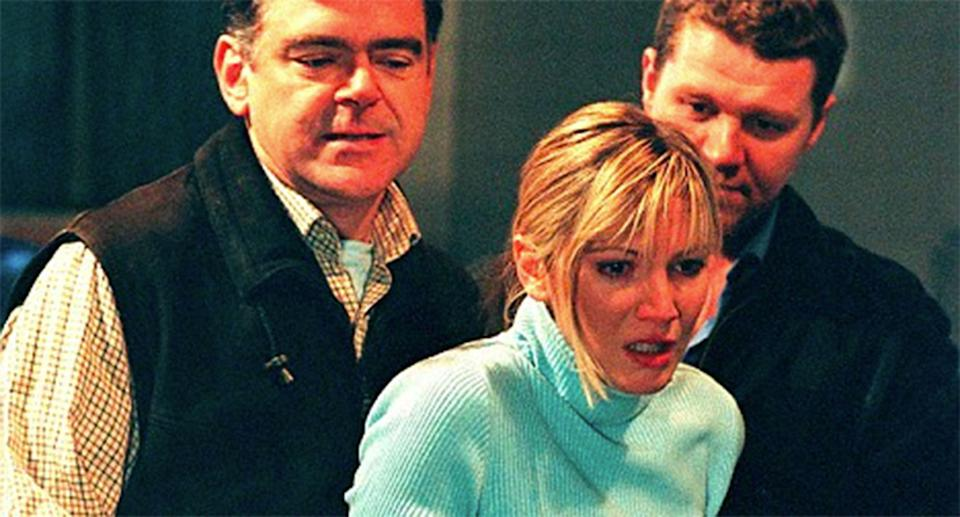 Lisa Faulkner's Helen Flynn came to a grisly end in Spooks in 2002 (BBC)