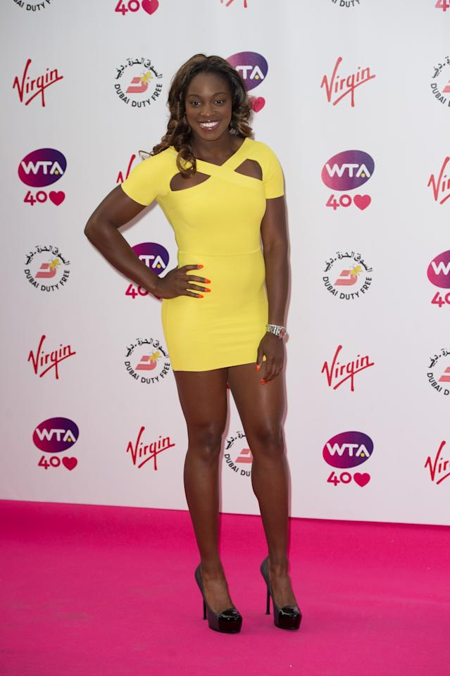 LONDON, ENGLAND - JUNE 20: Sloane Stephens attends the annual pre-Wimbledon party at Kensington Roof Gardens on June 20, 2013 in London, England. (Photo by Ian Gavan/Getty Images)